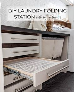 Laundry Room Drying Rack, Mudroom Laundry Room, Laundry Room Remodel, Small Laundry Rooms, Laundry Room Organization, Laundry Room Design, Storage In Laundry Room, Laundry Room Island, Organizing
