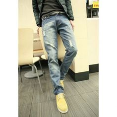 Spring Casual Style Narrow Feet Destroy Design Men' s Jeans Spring New, Online Shopping Stores, Cheap Clothes, Gentleman, Fashion Dresses, Jeans, Casual, Design, Style