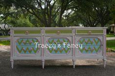Custom Painted Vintage Dresser MADE TO ORDER. $780.00, via Etsy.