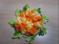 Flor em Crochê Cravo curto