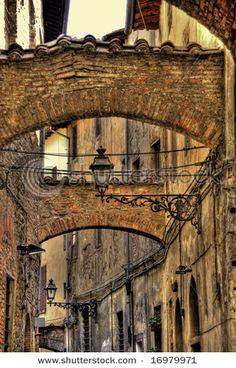 Alley in Pistoia, Italy