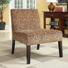 Wildon Home San Augustine Leopard Print Chair