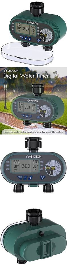 Watering Timers and Controllers 75672: Electronic Dual-Valve Hose Irrigation Water Timer Sprinkler System Lawn Watering -> BUY IT NOW ONLY: $51.99 on eBay!