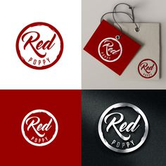 Create a unisex logo for Red Poppy co that would be suitable for a variety of products by M.janeDesigns