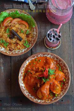 香辣红番茄鸡 & 番茄饭 Ayam Masak Merah & Nasi Tomato | Malay Red Cooked Chicken & Tomato Rice