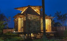 "Hopefully we'll be seeing more of these disaster-proof houses soon.  (Note from Nurture Nature Project: We don't believe in calling anything ""disaster proof"" but it looks like a great design and bamboo is a renewable resource.)"