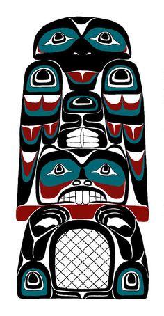 Northwest Coast Indian Art - Scott Copeland - Raven and Beaver