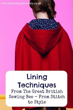 Techniques for lining clothing