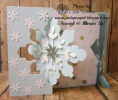 Just Sponge It, Snowflake Card Thinlits Dies, All is Calm dsp, Christmas, Cards,, Stampin' Up!, DIY