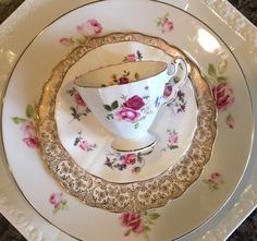 5 pc Vintage Mismatched Fine China Place setting Pink ROSES Dinnerware ROSENTHAL  | eBay