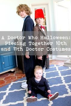 How to inexpensively assemble 10th and 11th Doctor kids' Halloween costumes from Doctor Who