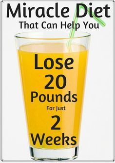 Miracle Diet That Can Help You Lose 20 Pounds For Just 2 Weeks