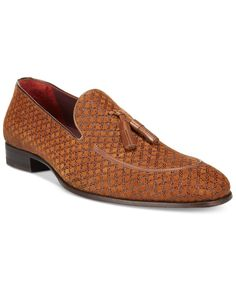 Dress like royalty with these premium printed tassel loafers from Mezlan. | Leather upper; leather sole | Imported | Plain toe | Slip-on style | Leather lining for comfort and durability | Web ID:2675