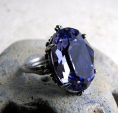 Swarovski Victorian Gothic Ring Amethyst Crystal