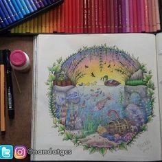 Finalmente terminei!!! Livro FLoresta Encantada, lápis Polychromos da Faber- Castell,  inspiração na @carolpafiadache  Nunca gostei tanto de um desenho!!!! #boaterca #boatardee #colorindo #colouringbook #livrodecolorir #florestaencantada #johannabasford #editorasextante #mundocolorido #amandocolorir #arteando #arteterapia #antiestresse #distraçãoearte #lápisdecor #fabercastell #polychromos #120cores #passoapasso #jardimsecreto #oceanoperdido #adoro #ferias #boracolorirtop