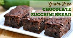 Grain Free Chocolate Zucchini Bread Recipe - Made in the Blender! Paleo, no refined sugar, coconut flour, gluten free!