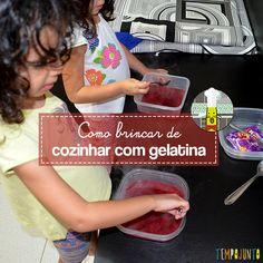 Brincando na cozinha com crianças - gelatina