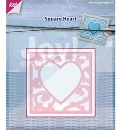 Joy!Crafts mallen 6002/0445 Vierkant met hart