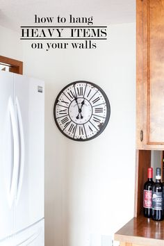 Home decorating tip for hanging art on walls. No wall stud to hang a heavy mirror, clock , curtain rod, or art? Then you need one of these that will make hanging just about anything heavy be fast and easy. | In My Own Style