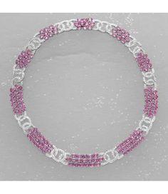A Pink Sapphire and Diamond Necklace