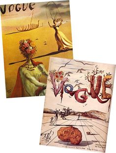 A couple of Dali's Vogue covers. Always liked these.