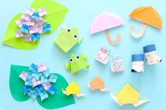6月の折り紙 Japanese Origami, Origami Paper, Paper Crafts, Tissue Paper Crafts, Paper Craft Work, Papercraft, Paper Art And Craft, Paper Crafting