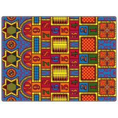 "Flagship Carpets Educational Games That Teach Area Rug Rug Size: 8'4"" x 12'"