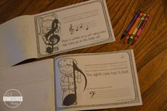 teach kids music with these free printable books for young kids