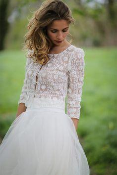 Robes de mariée - Marie Laporte - Collection 2017 | Modèle: Jupe Charlie & Veste Hendaye | Photographe : Lili Rénée | Donne-moi ta main - Blog mariage