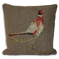 This particular item features the image of a perpetually alert pheasant, rendered in a subtle colour palette, to give you an item that is unusual and full of character without being overbearing. The base cushion cover is presented in a herringbone pattern which blends excellently into all manner of existing decor so you can find a home for this observant pheasant.
