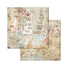 1 Blatt Stamperia A4 Reispapier 21x29,7 cm Decoupage Collage A4 Time Is An Illusion Face