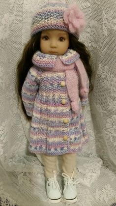 OOAK Blue Knitted Outfit or Dianna Effner Little Darling 13"