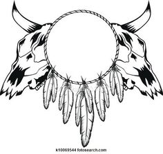 Clipart of skulls bull and tambourine k10069544 - Search Clip Art, Illustration Murals, Drawings and Vector EPS Graphics Images - k10069544.eps