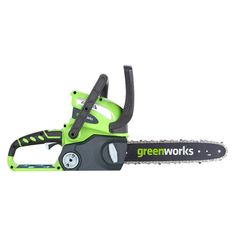 Greenworks 40V Gmax Chainsaw - Tool Only, Exotic Green