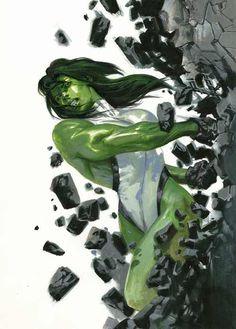 She Hulk by Gabriele Dell'Otto - Top SuperHeroes Marvel Vs, Marvel Comics Art, Marvel Girls, Marvel Heroes, Marvel Characters, Comics Girls, Batman, Spiderman, Marvel Universe