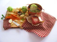 Corned beef dinner preparation board by Crown Jewel Miniatures