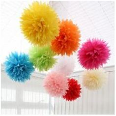 great source for hanging lanterns and pom poms