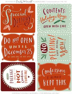 Harris Sisters GirlTalk: Free Christmas Printable Tags