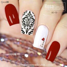 Gelish Nails, Red Nails, Toothpick Nail Art, Firework Nails, Watermelon Nails, Lace Nails, Beauty Nails, Pretty Nails, Nail Colors
