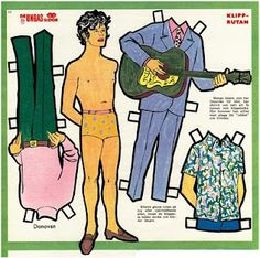 "Donovan Paper Doll from swedish magazine ""Hemmets Veckotidning"", 1966."