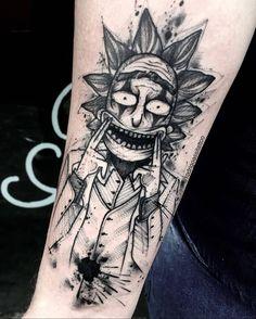 Made by ♥️ Dope Tattoos, Anime Tattoos, Leg Tattoos, Body Art Tattoos, Tattoos For Guys, Tattoo Design Drawings, Tattoo Sleeve Designs, Tattoo Designs Men, Tatuaje Rick And Morty
