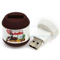Nutella Contest: Win a Nutella USB Key! Nutella, Technology Gadgets, Tech Gadgets, Usb Drive, Usb Flash Drive, Objet Wtf, Lettering Brush, Diy Organisation, Usb Stick