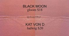 Black Moon Cosmetics Gloom / Kat Von D Ludwig