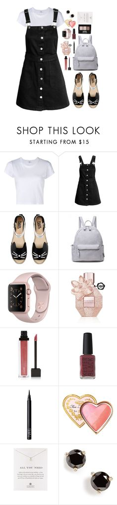 """Let's go and see."" by krys-imvu ❤ liked on Polyvore featuring RE/DONE, Karl Lagerfeld, Viktor & Rolf, Jouer, Kester Black, NYX, NARS Cosmetics, Too Faced Cosmetics, Dogeared and Kate Spade"