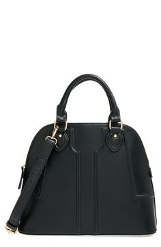'Marlow' Structured Faux Leather Dome Satchel