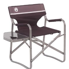 Coleman Portable Deck Chair with Side Table *** You can find out more details at the link of the image.