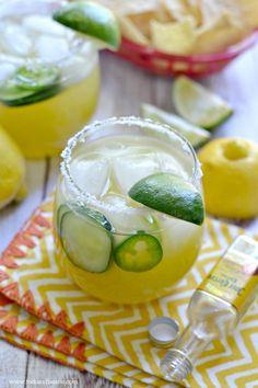 Cucumber Jalapeno Margarita - Fork & Beans