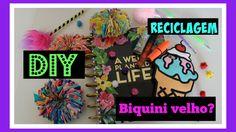 Diy reciclando biquinis velhos | gominhas de cabelo | iloveluly