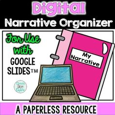 Digital Narrative Writing Organizer for Use. by Create Dream Explore Interactive Writing Notebook, Narrative Writing, Reading Resources, Classroom Resources, Writing Activities, Classroom Ideas, Creative Teaching, Teaching Ideas, Teaching Tools