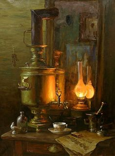 Painted by Stepan Nesterchuk, b 1978 in Dmitrovo, Russia, The old mirror, 2010